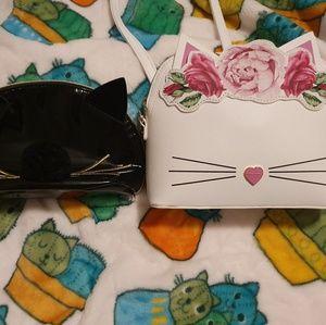 Betsey Johnson Floral Cat Crossbody Purse